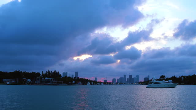 point of view of a tourist in the biscayne bay, miami, florida, usa - biscayne bay stock videos & royalty-free footage