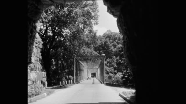 point of view of country road passing through tunnel, lexington, kentucky, usa - kentucky stock videos & royalty-free footage