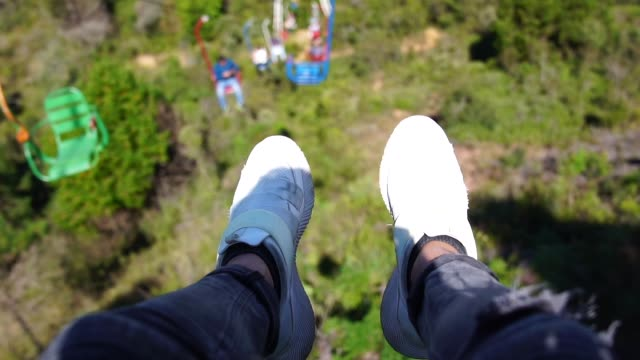point of view of feet on cable car - commercial land vehicle stock videos & royalty-free footage
