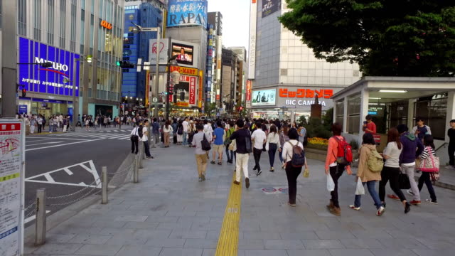 point of view of people walking the street in shinjuku, tokyo - 10 seconds or greater stock videos & royalty-free footage