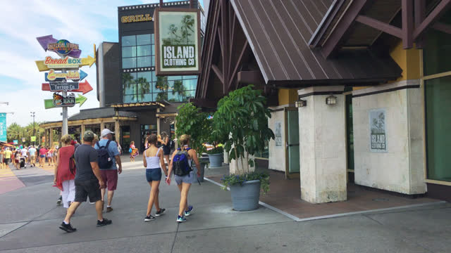stockvideo's en b-roll-footage met point of view of the general areas in universal studios seen on july 20, 2019; in orlando, florida, usa. universal studios' famous recreation... - redactioneel