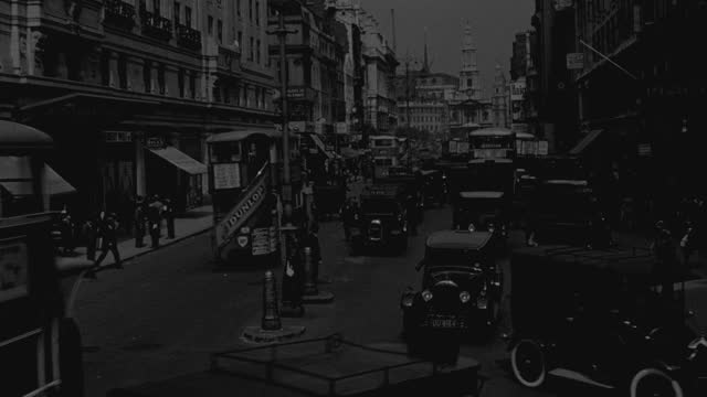 point of view of traffic moving on the strand in london, uk - 1930 stock videos & royalty-free footage