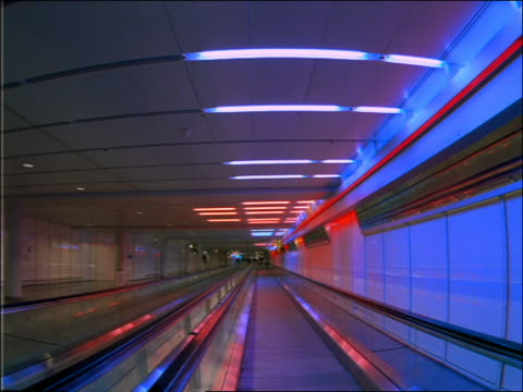 point of view on moving walkway in munich airport - 1992 stock videos & royalty-free footage