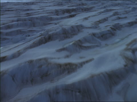 aerial point of view over snowy landscape towards mountains / alaska - 1997 stock videos and b-roll footage
