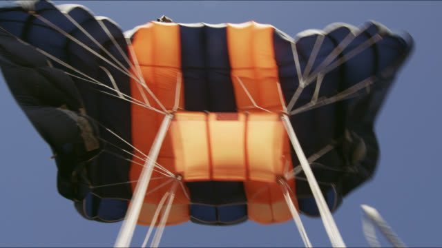 point of view, parachute opening - parachuting stock videos and b-roll footage