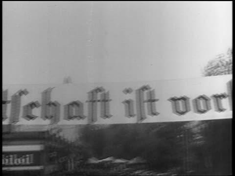 """point of view past hanging banner - """"die knechtschaft ist vorbei"""" / sudetenland annexed - czech republic stock videos & royalty-free footage"""