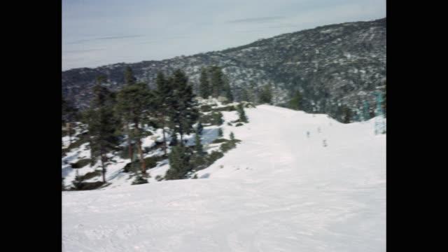 point of view shot of people enjoying at ski resort, usa - ski lift stock videos & royalty-free footage