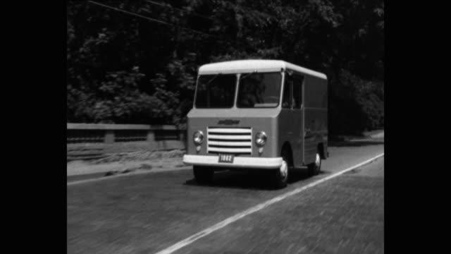 point of view shot of van driving on road - シボレー点の映像素材/bロール
