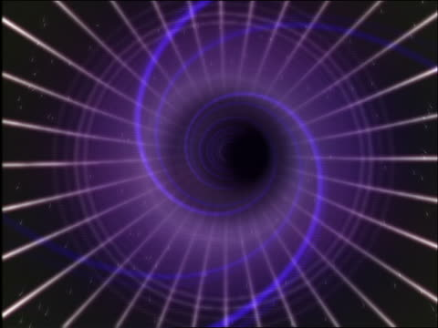 vídeos de stock, filmes e b-roll de cgi point of view thru multi-colored vortex - 1990 1999