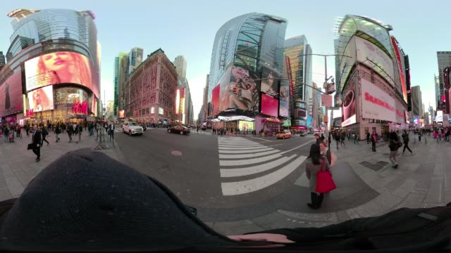 360 VR point of view Times Square New York City walking