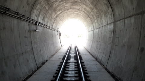point of view train out of tunnel. - the end stock videos & royalty-free footage