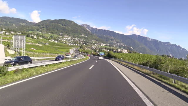 point of view video of a motorcycle above montreux in switzerland - montreux stock videos & royalty-free footage