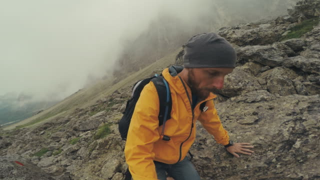 pov point of view walking and hiking in mountain - val di fassa stock videos and b-roll footage