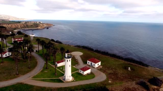 point vicente lighthouse in rancho palos verdes, california - palos verdes stock videos & royalty-free footage