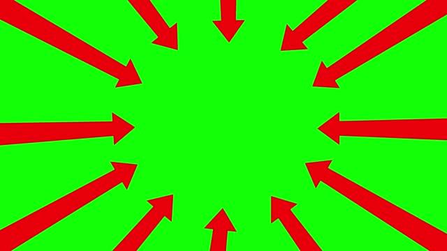 pointer arrows stock video on green screen chrome key - arrow symbol stock videos & royalty-free footage