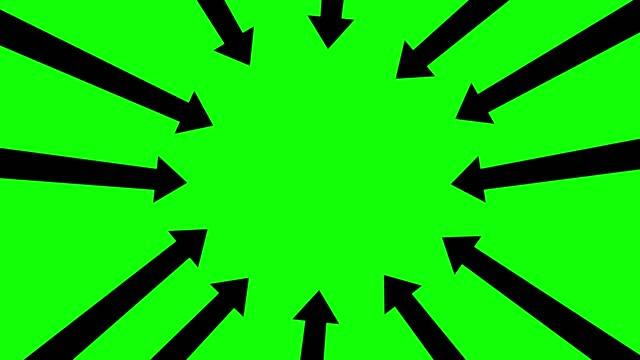 zeigerpfeile, zeitraffer-stopp-bewegung, chroma-taste, stockvideo - arrow symbol stock-videos und b-roll-filmmaterial