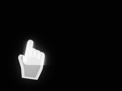 vídeos de stock e filmes b-roll de pointer navigating across computer screen - ícone de seta