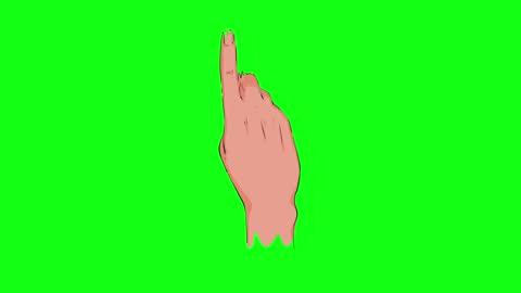 zeige indexfinger set auf grünem bildschirm - zeigen stock-videos und b-roll-filmmaterial
