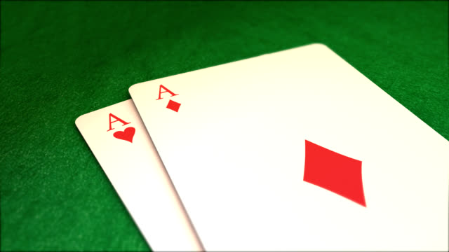 poker aces with red fiches - ace stock videos and b-roll footage