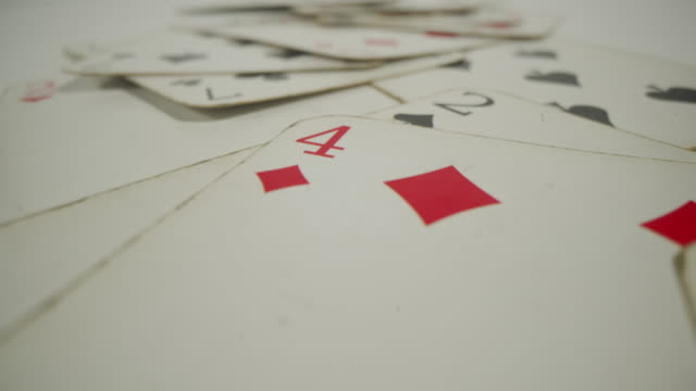 poker cards on table - blackjack video stock e b–roll