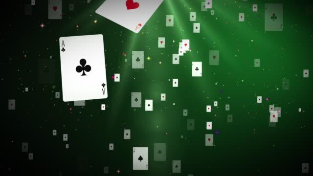 vídeos de stock, filmes e b-roll de cartões de poker de 4k (loopable) - texas hold 'em