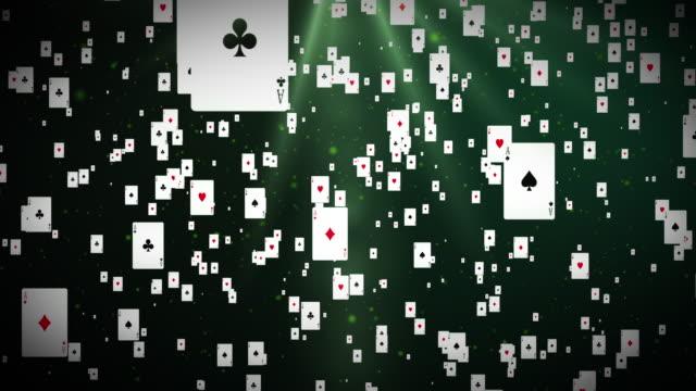 4k pokerkarten (endlos wiederholbar) - poker stock-videos und b-roll-filmmaterial