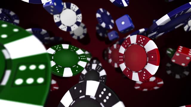 poker chip rotating and falling - seamless loop - gambling chip stock videos & royalty-free footage