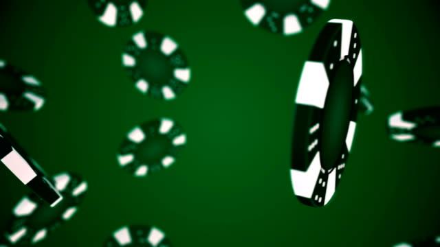 poker chip roterande och övergång med luma matte alfa channel-sömlös loop-stock video - nattliv bildbanksvideor och videomaterial från bakom kulisserna