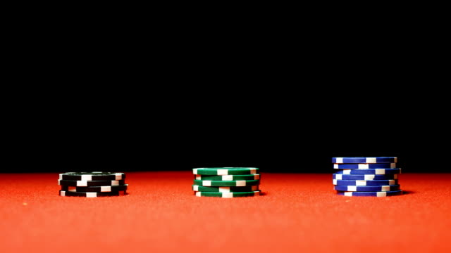 poker chips - gambling chip stock videos & royalty-free footage