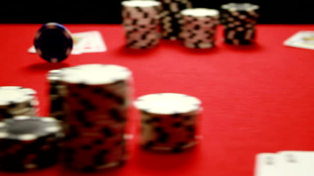 poker chips... - blackjack stock videos and b-roll footage