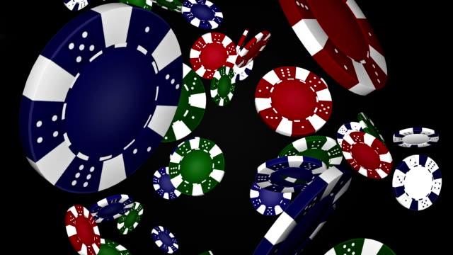 vídeos y material grabado en eventos de stock de póquer fritas (alpha matte) - casino