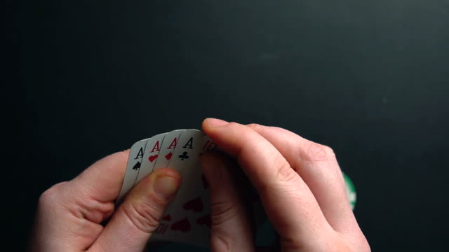 poker game - hand of cards stock videos & royalty-free footage