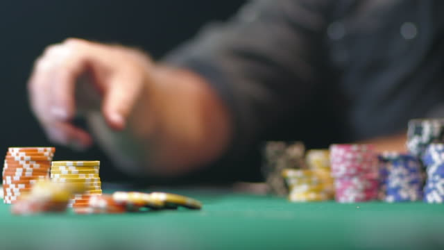 poker game - gambling chip stock videos & royalty-free footage