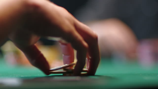 poker game - gambling chip stock videos and b-roll footage