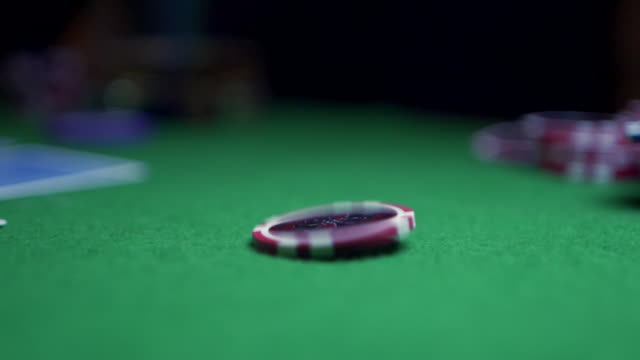 poker night - gambling chip stock videos & royalty-free footage