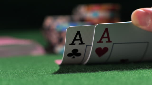 poker player showing good card combination - hand of cards stock videos & royalty-free footage