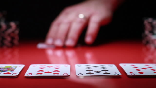 poker series... - gambling chip stock videos & royalty-free footage