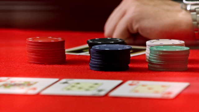 poker table - gambling chip stock videos and b-roll footage