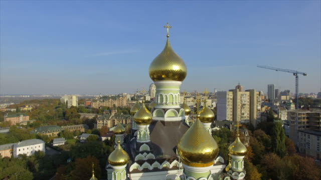pokrovsky monastery in kyiv - onion dome stock videos and b-roll footage