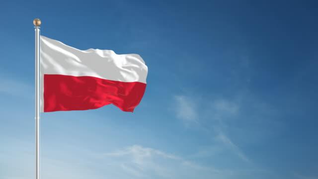 4K Poland Flag - Loopable