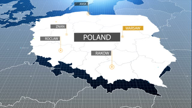 poland map with label then with out label - poland stock videos & royalty-free footage