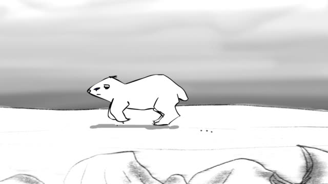 Polar Bear cub running