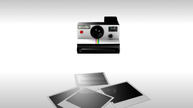 polaroid pictures with flash - polaroid stock videos & royalty-free footage