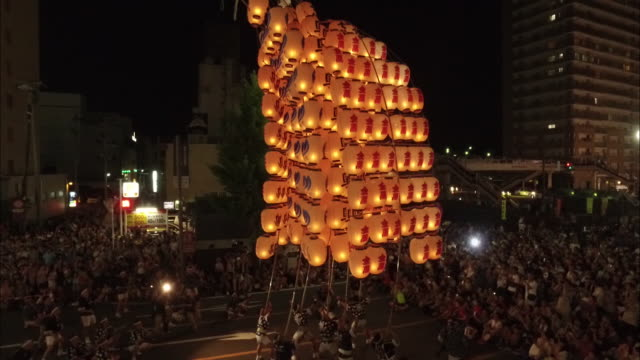 Pole Lantern Festival in Akita City