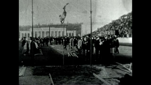 pole vault at the 1906 intercalated olympic games - panathinaiko stadium stock videos & royalty-free footage