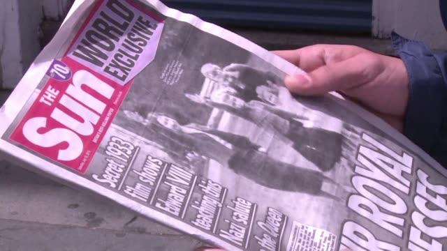 polemica en reino unido despues de que un rotativo britanico publicara una foto de la reina isabel ii cuando era nina realizando el saludo nazi a... - reino unido stock videos & royalty-free footage