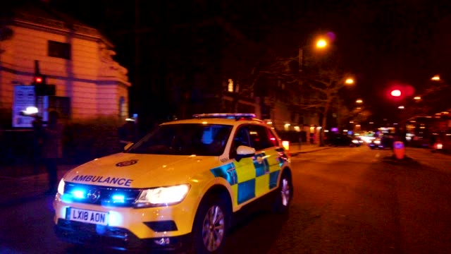 a police ambulance arrives on scene near regents park mosque following a nearby fatal stabbing on march 28 2019 in london england police are working... - london central mosque stock videos & royalty-free footage