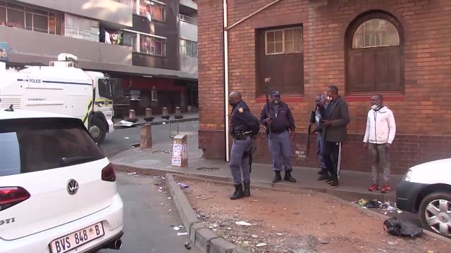 police and private security companies battled to disperse protesters from sunday afternoon when the protest action, themed #freejacobzuma and... - south africa stock videos & royalty-free footage