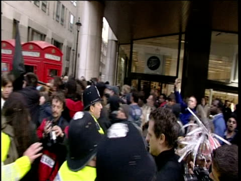 police and protestors grapple during may day demonstration - may day international workers day stock videos & royalty-free footage