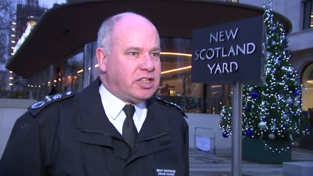 Police appeal for help following New Year knife crime deaths Westminster New Scotland Yard Sir Craig Mackey interview SOT re knife crime in London